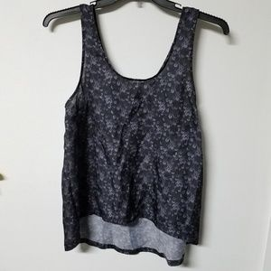 H&M Divided gray black faux sequin tank 8/Small